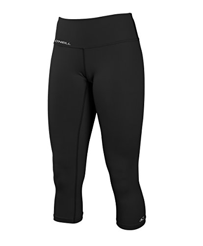 O'Neill Wetsuits Women's Skins Surf Capri, Black, - Pant Skin Surf