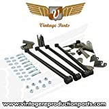 Vintage Parts 76178 Heavy Duty Triangulated Universal Four Link Kit with Shock Hardware