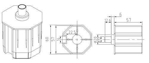 PALMAT Accessoire moteur tubulaire de volet roulant Pièce octogonale en plastique  pour embout de moteur tubulaire 60SW  Amazon.fr  Cuisine   Maison 7f0c3d922fe4