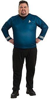 Deluxe Star Trek Shirt Costume - Plus Size - Chest Size 46-50 (Star Trek Voyager Costume)