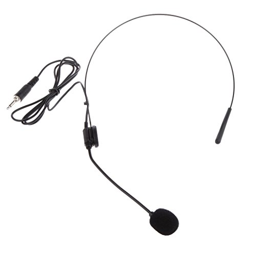 Professional Wired Unidirectional Condenser Black Microphone Headset Electret Headworn Mic
