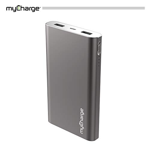 myCharge RazorMax Portable Charger 8000mAh / 2.4A Dual USB Port External Battery Pack Power Bank for Cell Phones (Apple iPhone Xs, XS Max, XR, X, 8, 7, 6, SE, 5, Samsung Galaxy, LG, Motorola, HTC) (Mycharge Power Pack)