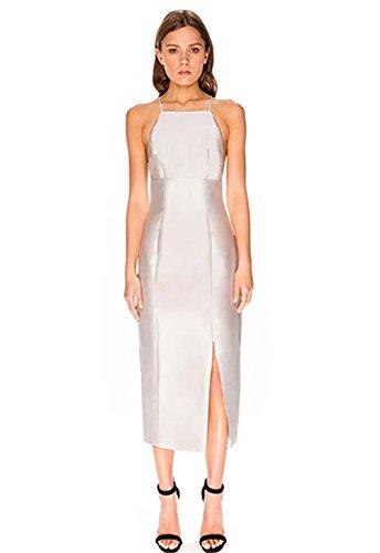 Keepsake Billboard Midi Dress in Pale Grey (Small)