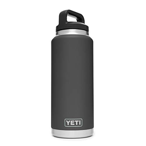 YETI Rambler 36 oz Stainless Steel Vacuum Insulated Bottle with Cap, Charcoal