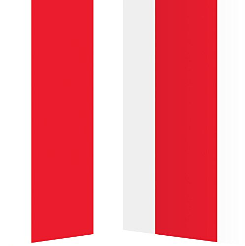 Hollywood Fancy Dress Party Costumes (Beistle 52130 Red and White Stripes Backdrop, 4-Feet x 30-Inch)