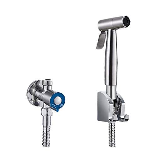 Sprayers Flusher Piece Set Handheld Bidet Toilet Sprayer Hygiene Bidet Shower Sprayer Bronze Pressurized Washing Faucet Hot and Cold Adjustable Toilet Spray Gun (Color : A3-Spray Gun Set of 4) ()