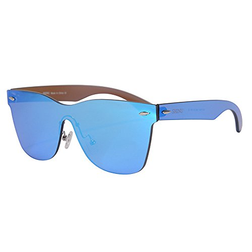 834615f3a5e Zhao Xiemao Sunglasses Men s Sports Sunglasses One-Piece Style PC Colorful  Lens UV Protection Sunglasses for Driving Baseball Running Cycling Fishing  Golf ...