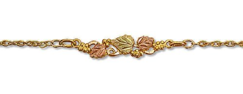 Landstroms 10k Black Hills Gold Bracelet with Leaves and Grapes - G L07266