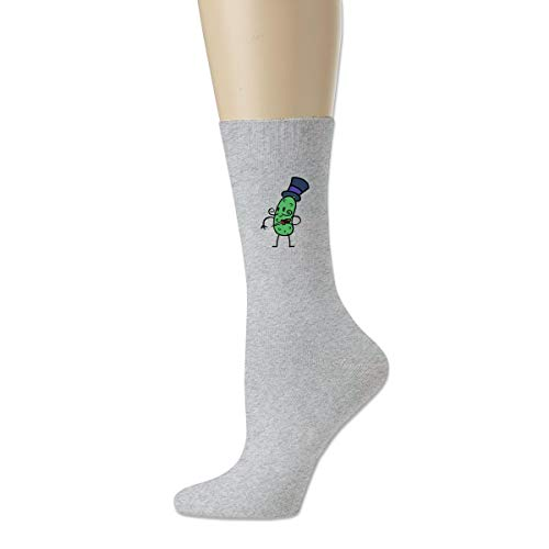 Women High Ankle Cotton Crew Socks Funny Pickle Casual Sport Stocking