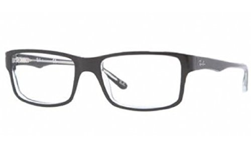 Ray-Ban Men's Rx5245 Square Eyeglasses,Top Black & Transparent,52 - Ban Ray Case Prescription Glasses
