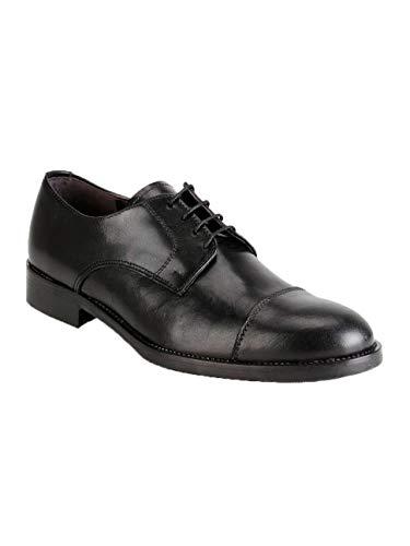 Piu' Negro Cordones Para Uomo Hombre De Cuero Zapatos 1q4zwv4F