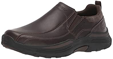 Skechers Men's EXPENDED Leather Slip ON Moccasin Chocolate 7 Medium US
