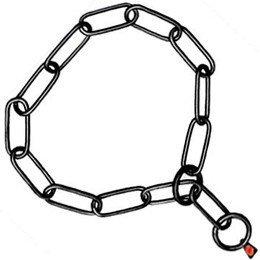 Herm Sprenger Fursaver Black Stainless Steel 20'' Choke Collar, One Size