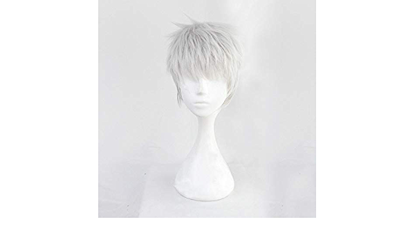 Details about  /Twisted Wonderland Kalim Al-Asim Silver Gray Short Cosplay Wig Halloween Party