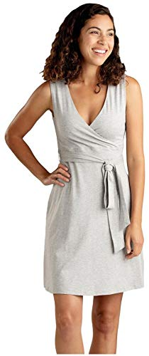 Toad&Co Cue Wrap Sleeveless Dress - Women's Heather Grey Large