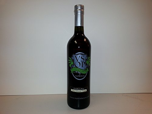VSOP Cranberry Pear Aged White Balsamic Vinegar of Modena (750 ml / 25.36 oz)