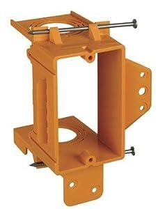 Union GBRSC100A Single-Gang Low-Voltage Bracket, Orange, Pack of 1
