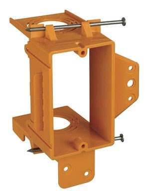 Union GBRSC100A Single-Gang Low-Voltage Bracket, Orange, Pack of 1 ()