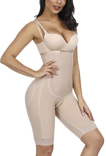 FeelinGirl Women's Open Bust Tummy Control Shapewear Thong High Waist Ladies Bodysuits XXL (Control Full Body)