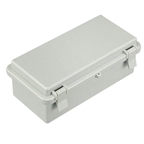 Awclub Waterproof Dustproof IP65 ABS Plastic Electric Junction Box Hinged Shell Outdoor Universal Durable Project Enclosure Gray With Lock 8