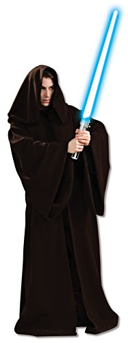 Star Wars Men's Jedi Super Deluxe Adult Robe and Lightsaber Bundle, Multi, Standard ()