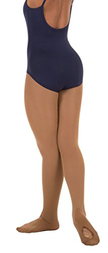 Body Wrappers Angelo Luzio Adult Womens Convertible Mesh Backseam Tights-Dark Nude-medium from Body Wrappers
