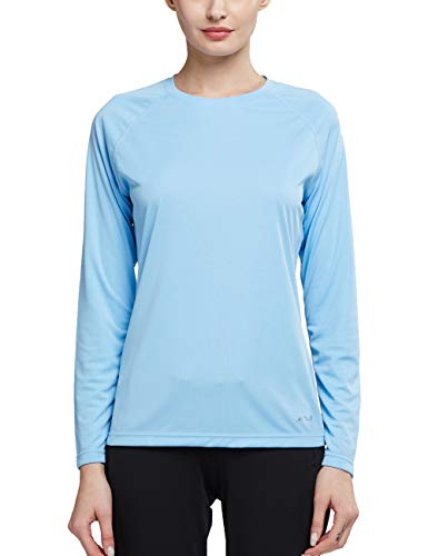 Sky Blue Soccer T-Shirt - MOCOLY Womens UPF 50+ UV Sun