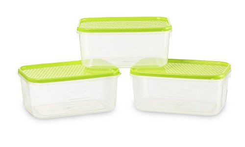 All Time Plastics Polka Container Set, Set of 3, Green