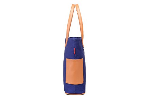 Borse Azzurro cerniere VogueZone009 tela Tessuto Moda di Donna tracolla a Borse Casuale qPaA8Pw6