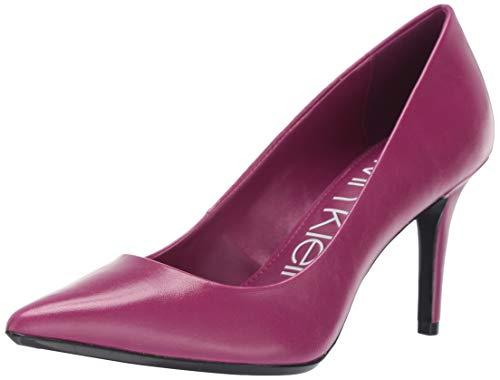 Calvin Klein Women's Gayle Pump, Magenta Varnished Crackle Leather, 7 M US