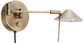 Lite Source LS-16350AB Rhine Halogen Wall Lamp, Antique Brass