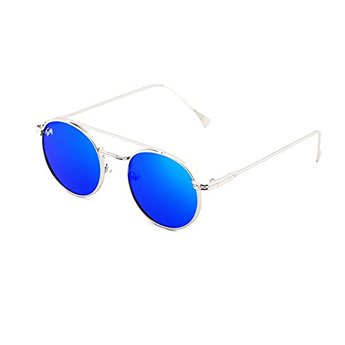 Azul hombre redondo MONTESQUIEU de mujer Gafas sol TWIG Plata FxZ8qwA4