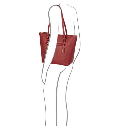 Rot X Talla Mediano Rot Crème Bolso Única bordeaux Piel Shopper bag OvFRw