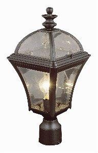 Trans Globe Lighting 5085 BK Outdoor Washington 19.5'' Postmount Lantern, Black
