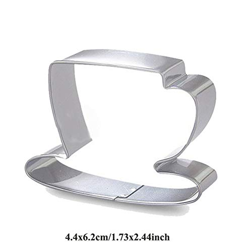ie reposteria Fashion Paris Bag Gift Camera Molds Metal Cake Decor Cookie Cutter Biscuit Cupcake Pastry Shop Mould: Tea Cup ()