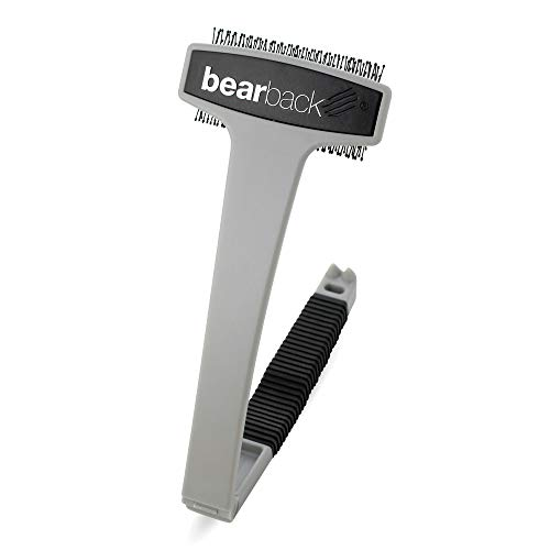 Bearback Back Scratcher: A Uniquely Better Back Scratching Experience. Superior Quality Folding Back and Body Brush. (Gray) ()