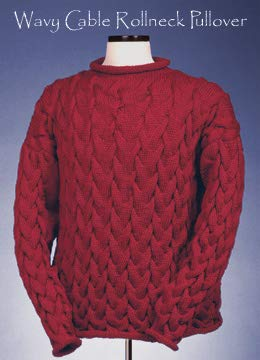 (123 Vermont Fiber Pattern Wavy Cable Rollneck Pullover)