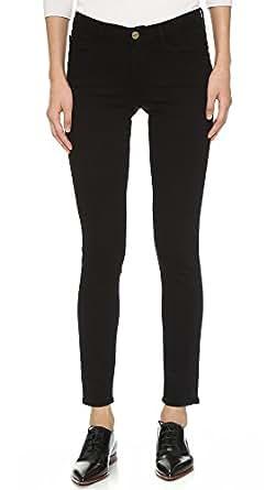 FRAME Women's Le Color Skinny Jeans, Film Noir, 24