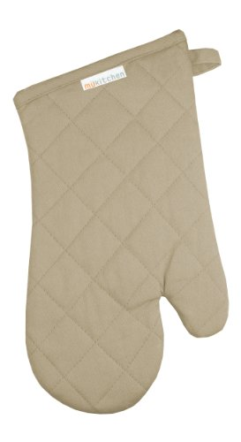 MUkitchen 100% Cotton, Terry-Lined Oven Mitt, 13-Inches, Fla