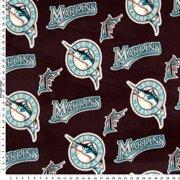 - MLB Florida Marlins (the teams previous name and logo) Baseball Print Fleece Fabric Print By the Yard