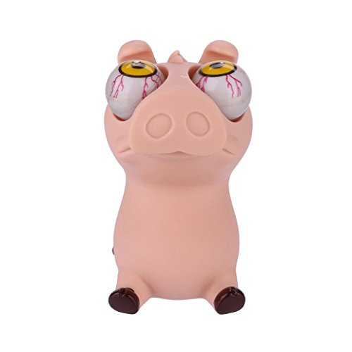 Stress Reliever Toys Fun Squishy Toy Lovely Pig Decompression Slow Rising Squeeze Cream Scented Eye Pop Out Drfoytg (Pink)