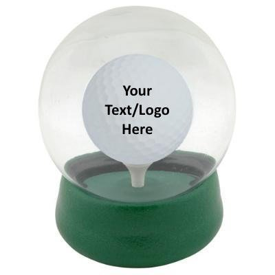 Original Golf Globe Game - Water Globe Golf-Ball-on-The-Tee Challenge Logo or Text (Matching Set of 12)