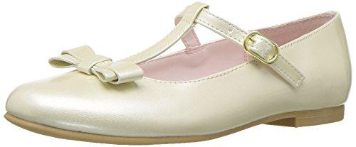 NINA Girls' merrilyn Ballet Flat, Ivory, 13 M US Little Kid -