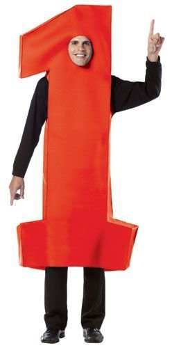 Number 1 Fan Costume (Number 1 Costume - One Size - Chest Size 48-52)