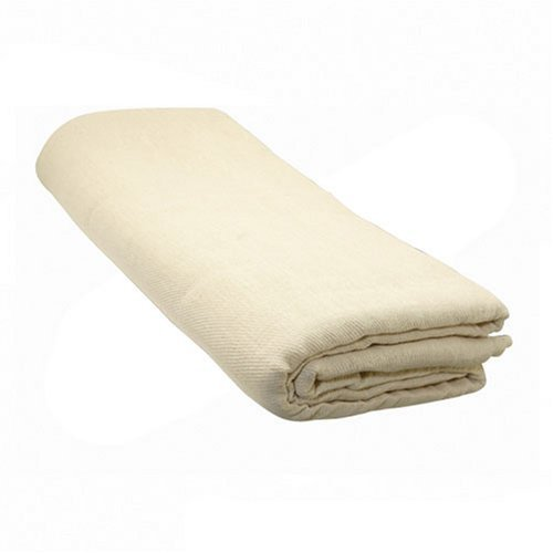 Silverline 868803 Cotton Twill Polyethylene-Backed Dust Sheet 3.6 x 2.4m (12 x 8') SLTL4