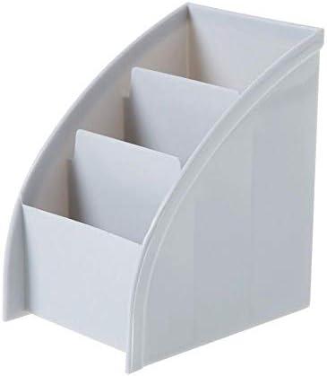 RUIXIANG Schreibtisch-Aufbewahrungsbox für Fernbedienung, Handy, Kosmetik-Organizer, Make-up-Pinsel, Fernbedienungshalter hellgrau