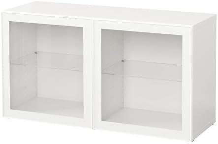 IKEA BESTA – Estantería con puertas de cristal blanco ...