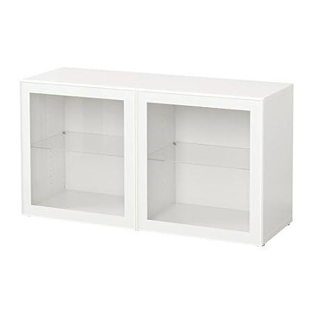 Zigzag Trading Ltd Ikea Besta Shelf Unit With Glass Doors White