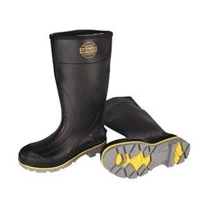 Knee Boot, Mn, 13, Stl Toe, Blk/Ylw/Gry, 1PR