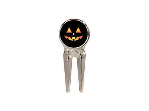 Moonlight Printing Scary Spooky Halloween Pumpkin Face 3 Golf Hat Clip Marker -